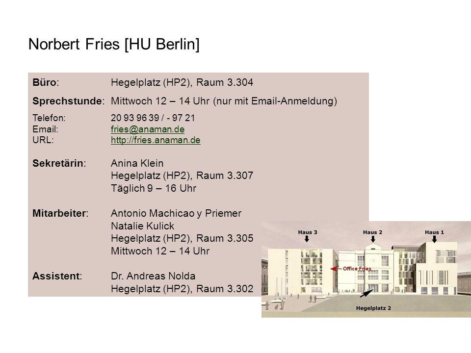 Norbert Fries [HU Berlin]